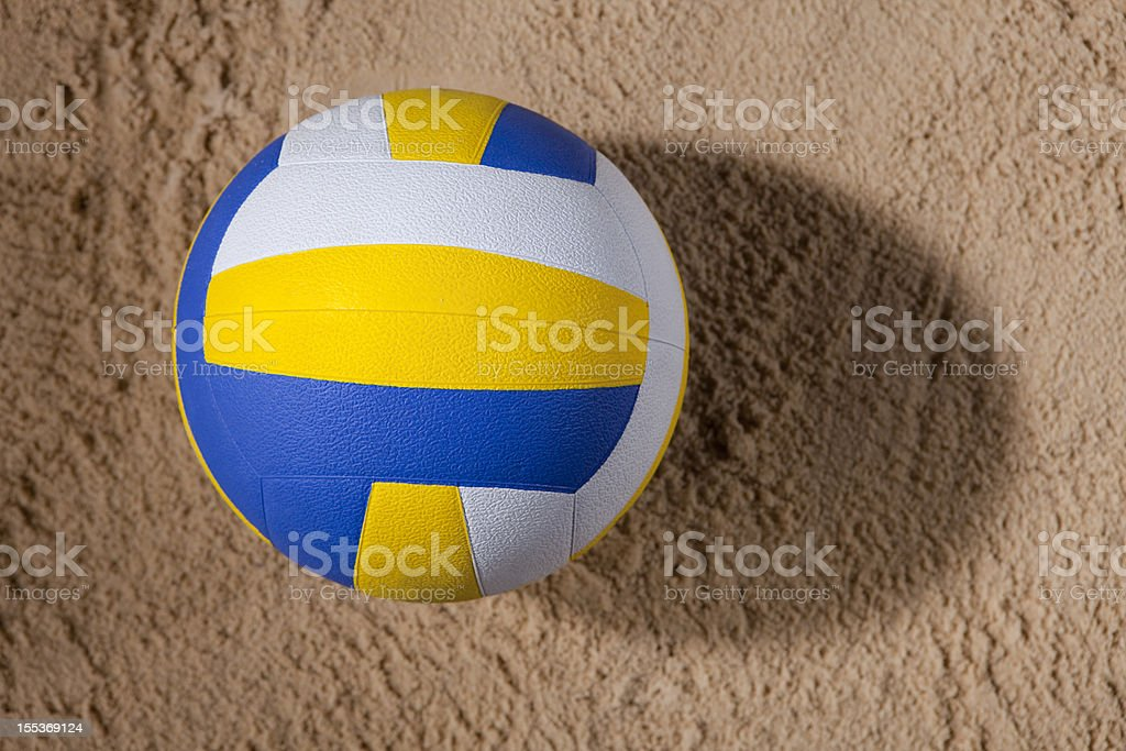 Beach Volleyball On Sand royalty-free stock photo
