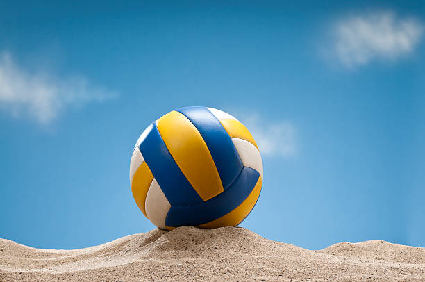 Beach Volleyball On The Sand stock photo