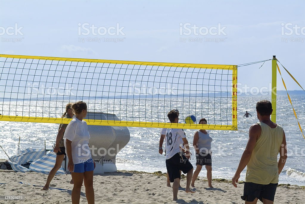 Beach volleyball royalty-free stock photo