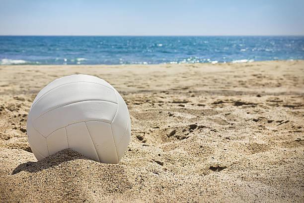 Beach Volleyball stock photo