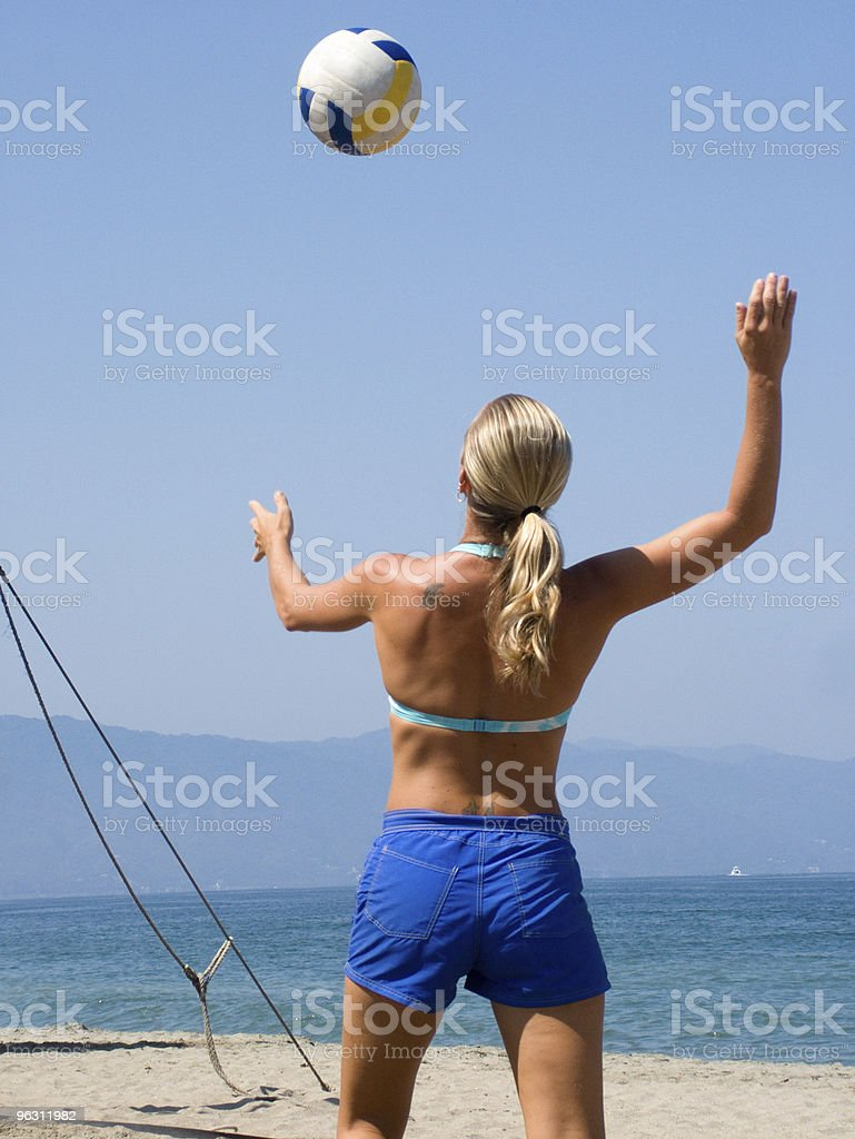 Beach Volleyball Woman royalty-free stock photo