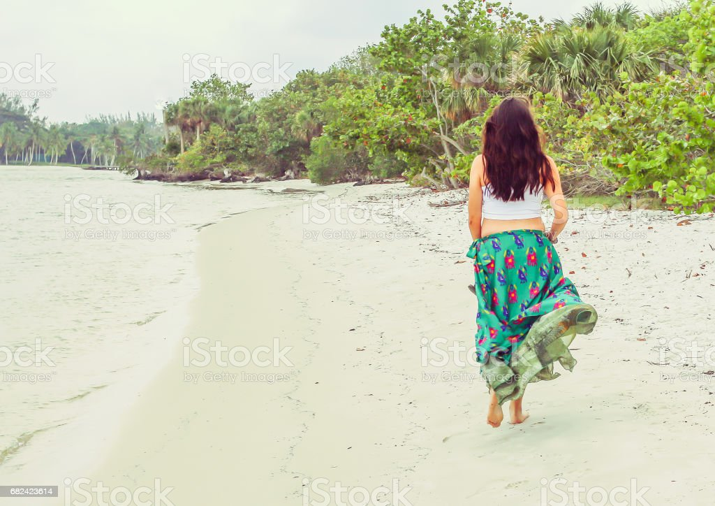 Beach Walk royalty-free stock photo