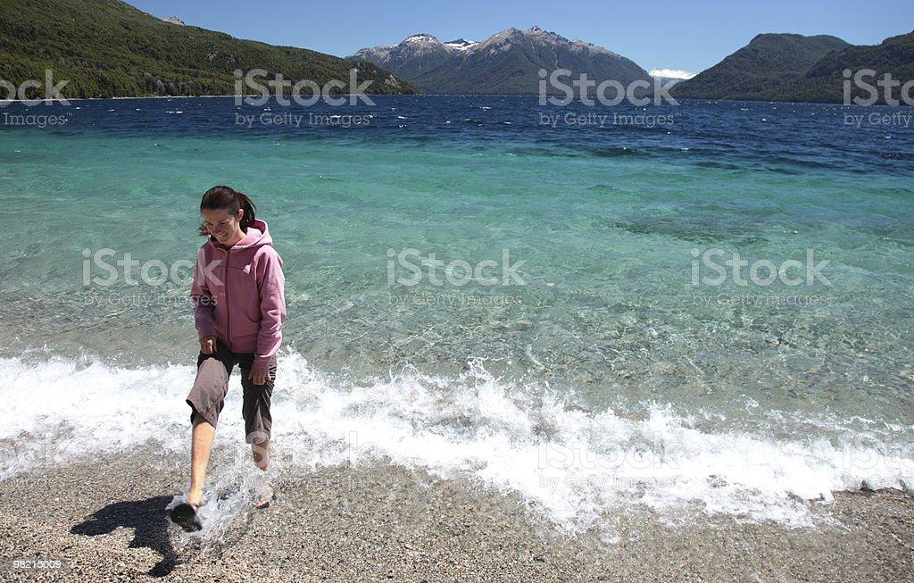 Beach Walker royalty-free stock photo