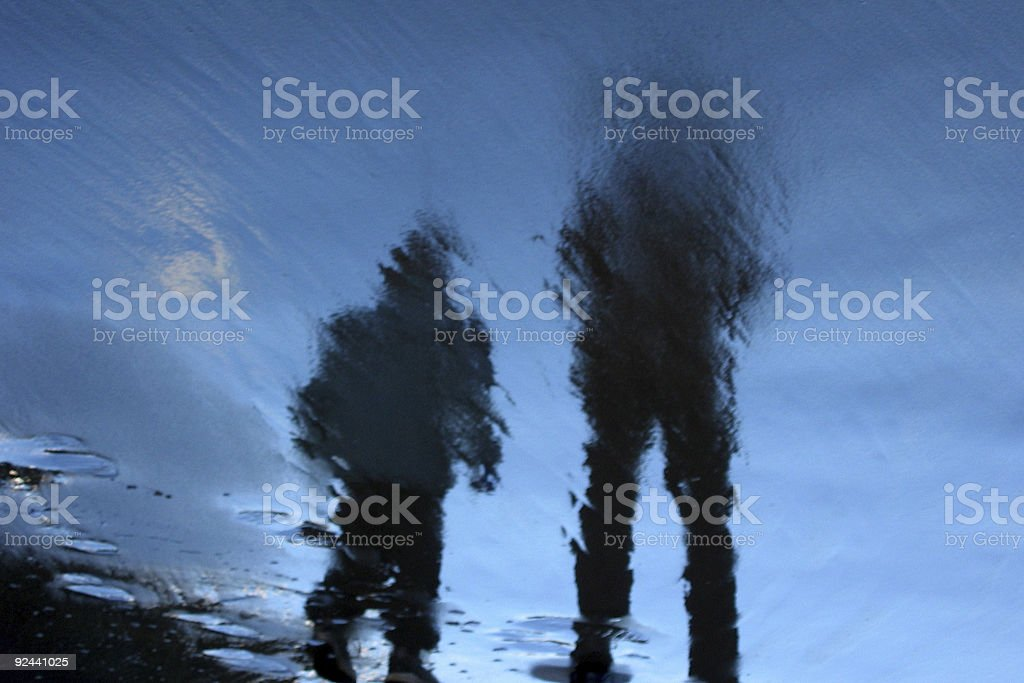 Beach walkers royalty-free stock photo