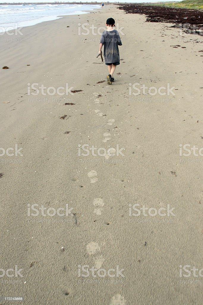 Beach Walking Path stock photo