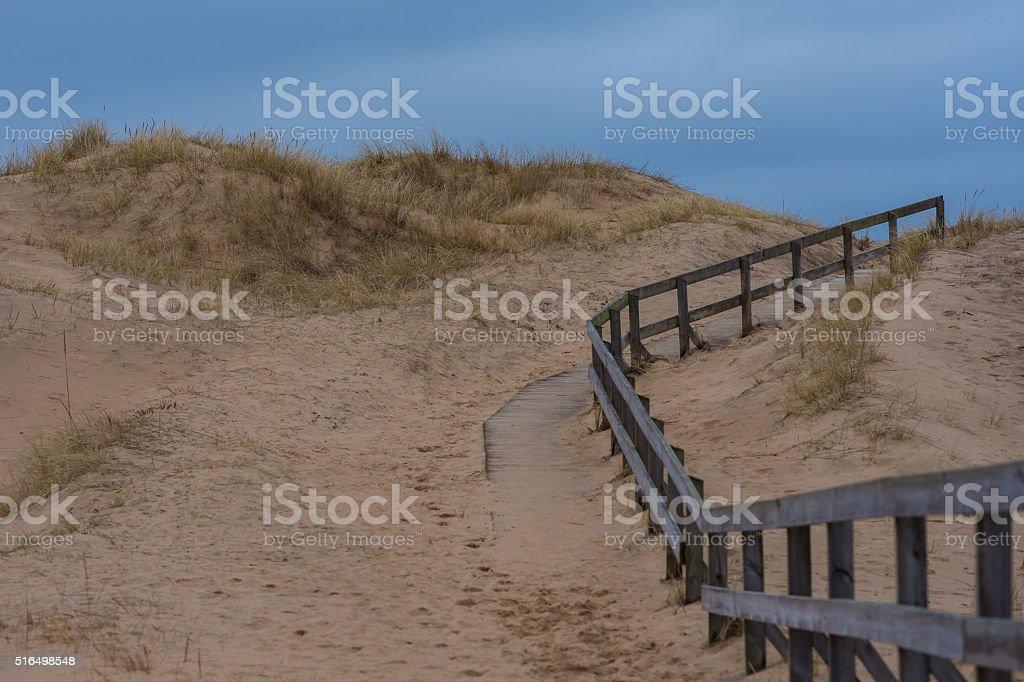 Beach Walkpath stock photo