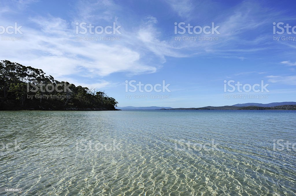 Beach Water in Bruny Island, stock photo