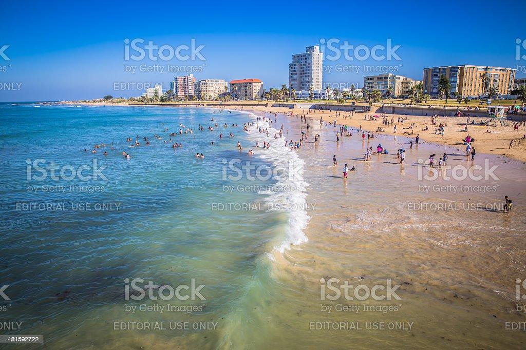 Beach waterfront of Port Elizabeth stock photo