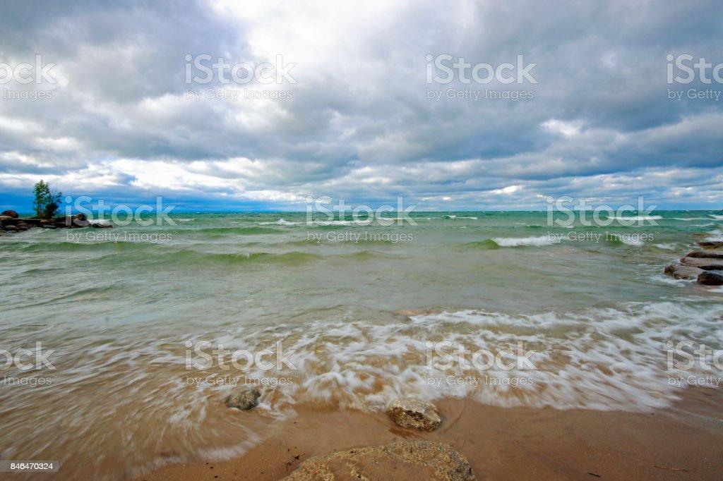 Beach Wave Landscape stock photo