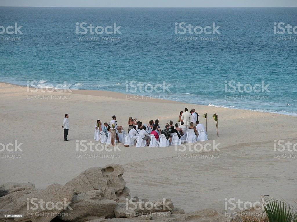Beach wedding royalty-free stock photo