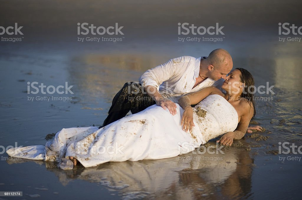 Beach Wedding Romance - Royalty-free Abiye Stok görsel
