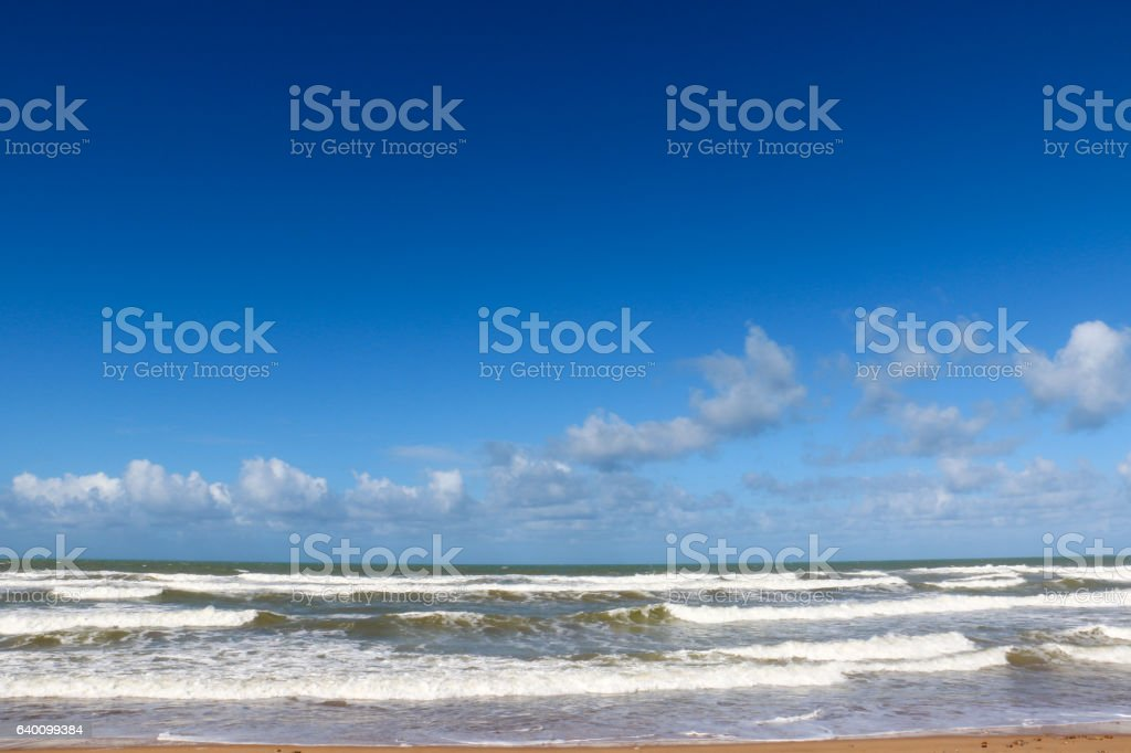 Beach, Western Sahara stock photo