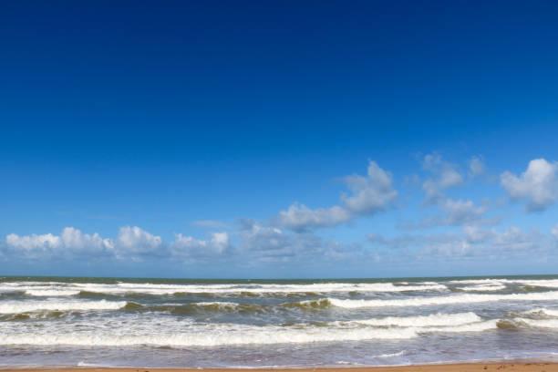 Beach, Western Sahara stock photo