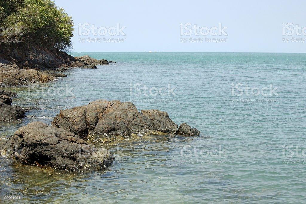 Beach with big stones - #4 royalty-free stock photo