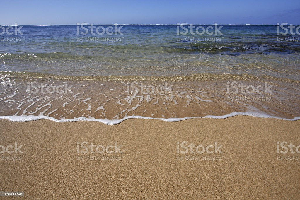 Beach with Copy Space stock photo