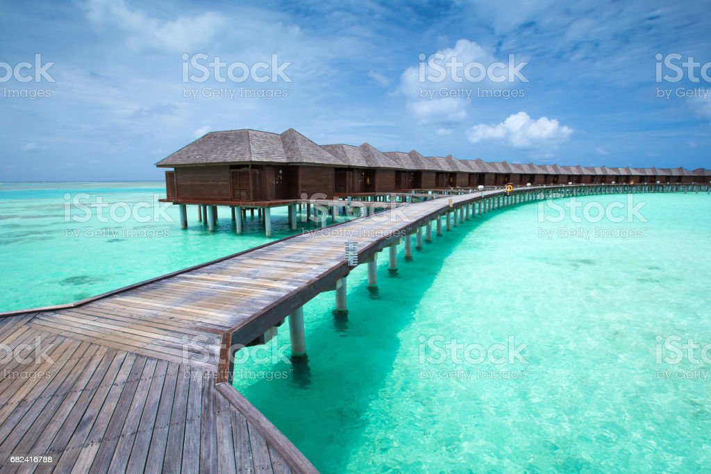 beach with  Maldives royalty-free stock photo