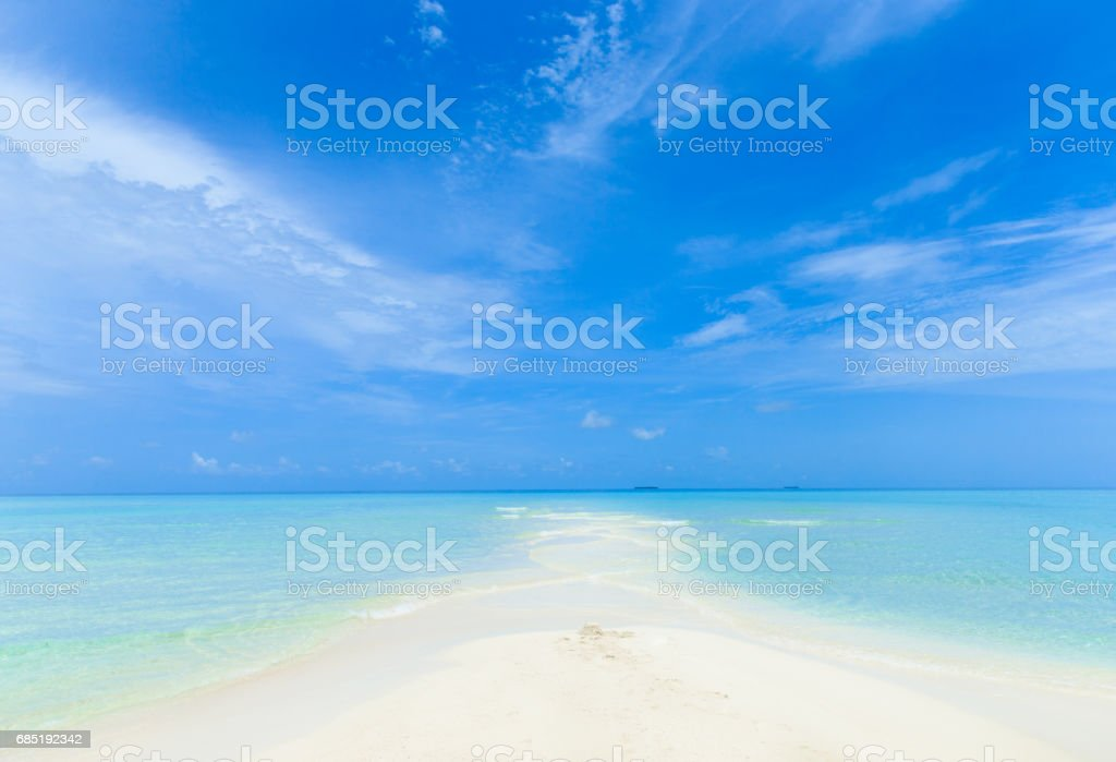 beach with  Maldives royalty-free stock photo