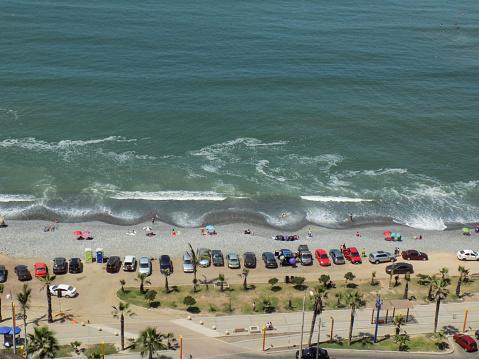 Beach with public III