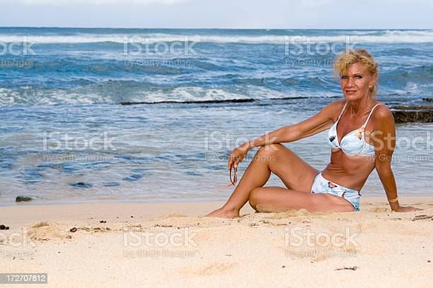 Beach Woman Stock Photo - Download Image Now