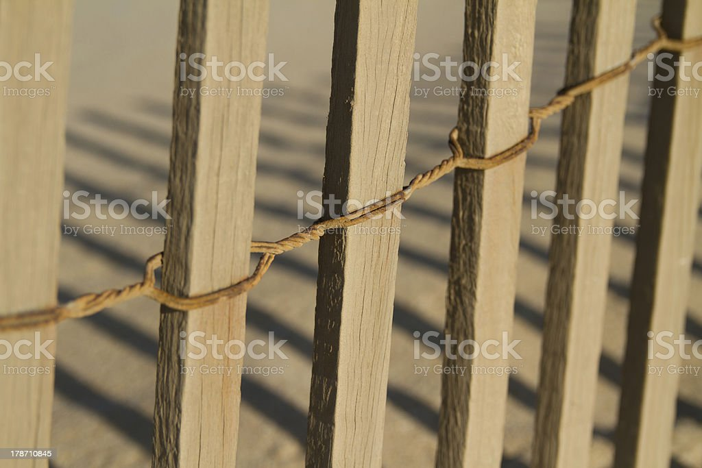 beach wood fence royalty-free stock photo