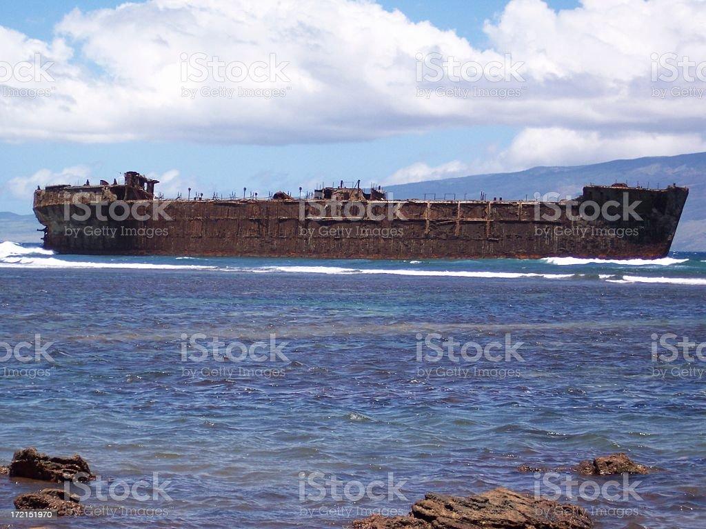 Beach Wreck royalty-free stock photo