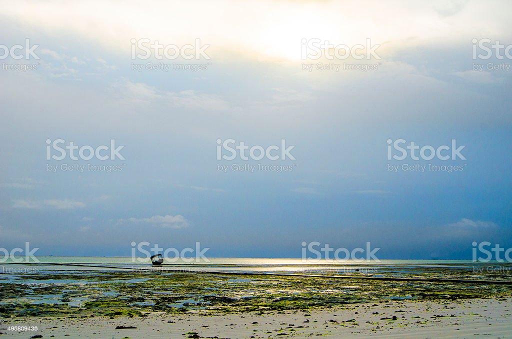Beach Zanzibar stock photo