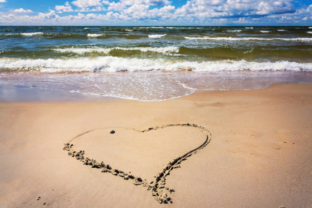 beach_heart stock photo