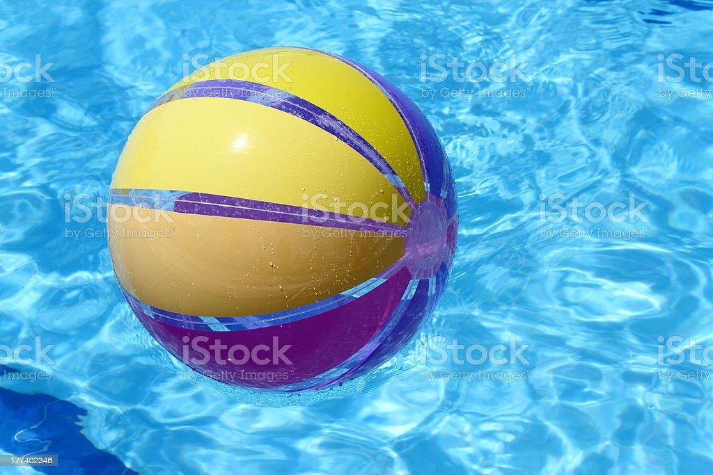 Beachball and swimmingpool. royalty-free stock photo