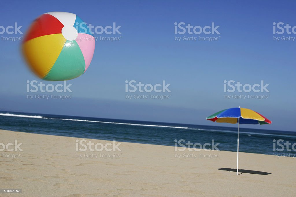 Beachball in the Air royalty-free stock photo