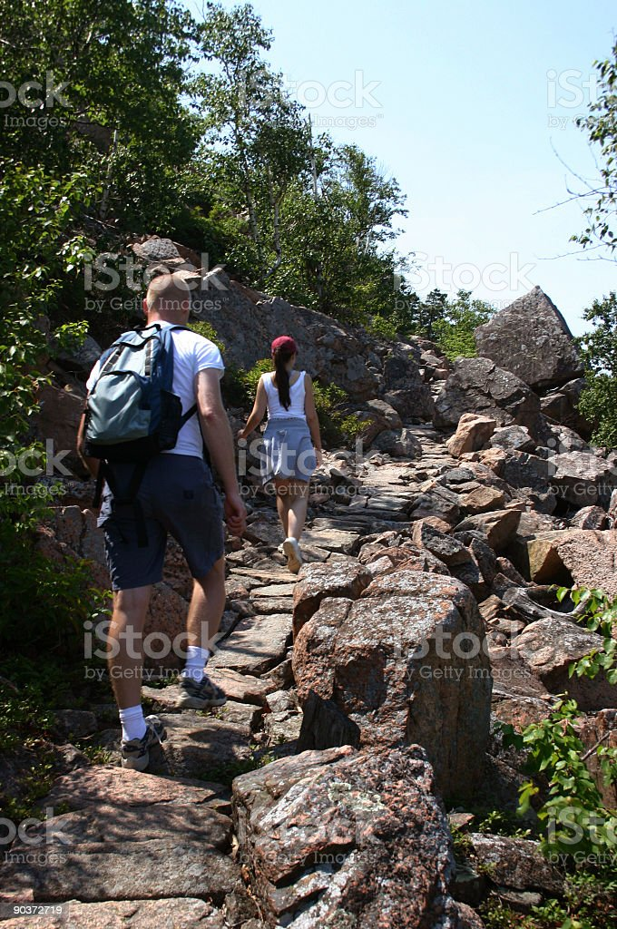 Beachcroft Path hikers royalty-free stock photo