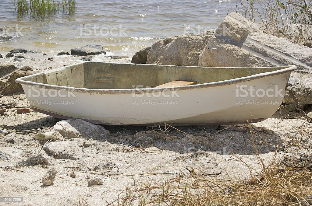 Beached Dinghy royalty-free stock photo