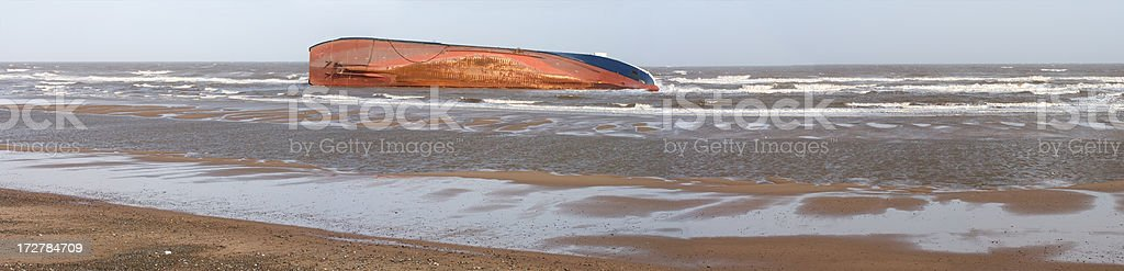 Beached Panoramic royalty-free stock photo