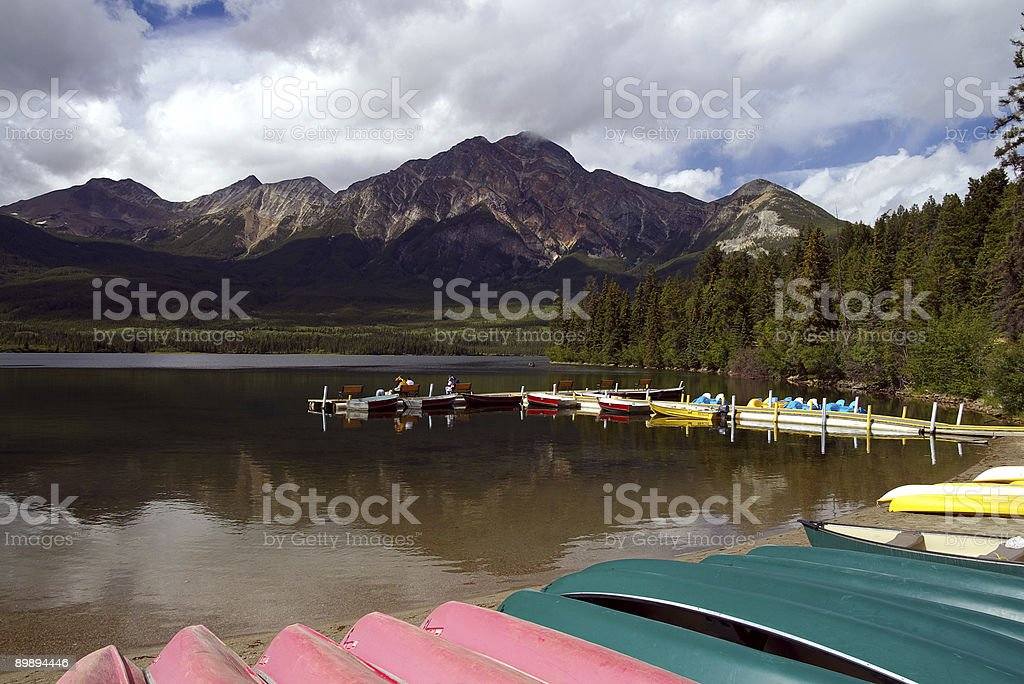 Beached Rental Boats royalty-free stock photo