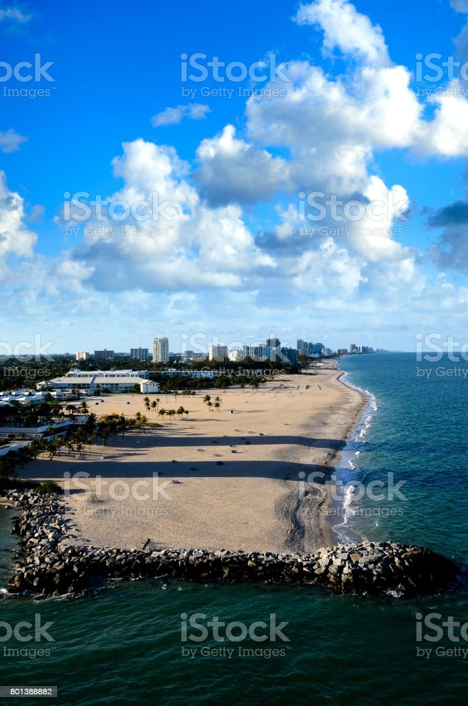 Beaches and cityscape of Ft. Lauderdale stock photo