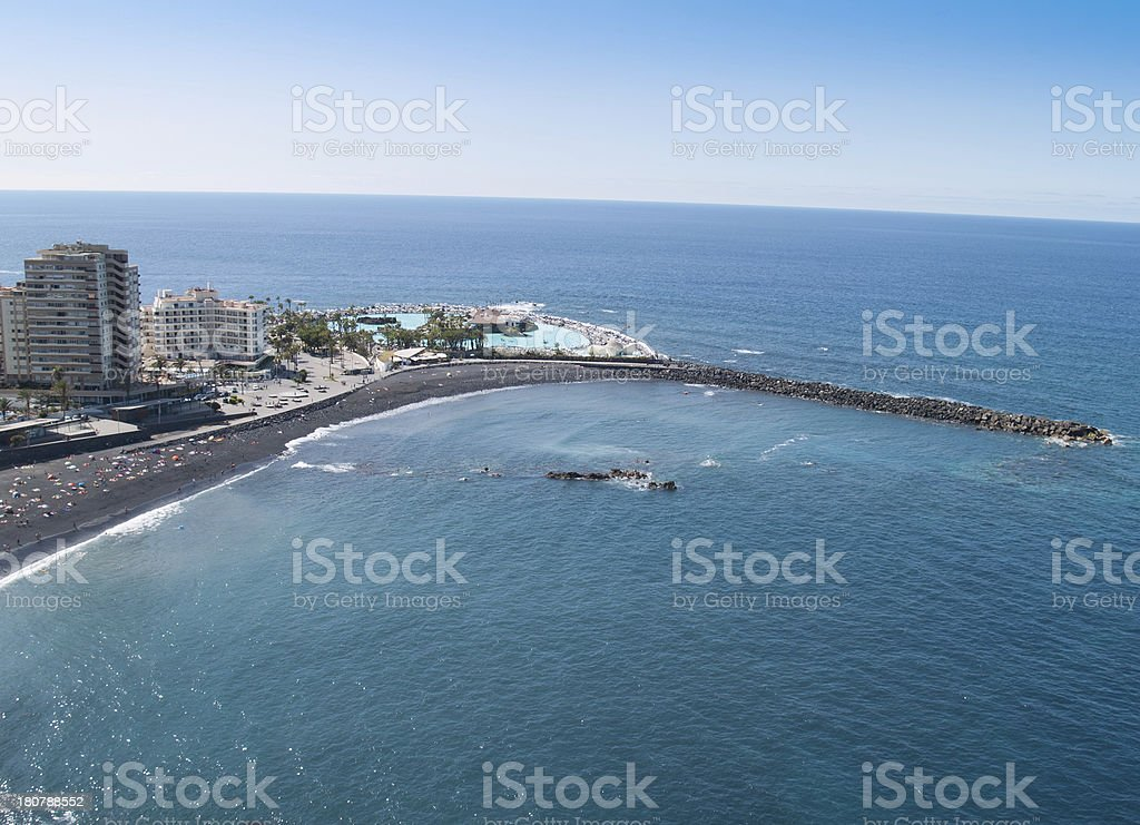 Beaches and hotels of Puerto de la Cruz, Tenerife stock photo
