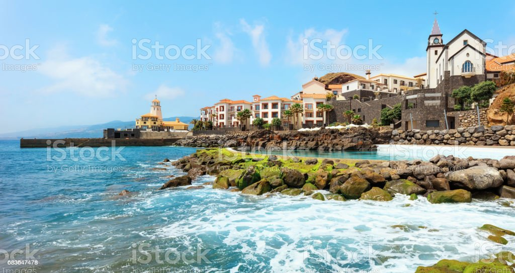 Beaches of Madeira stock photo