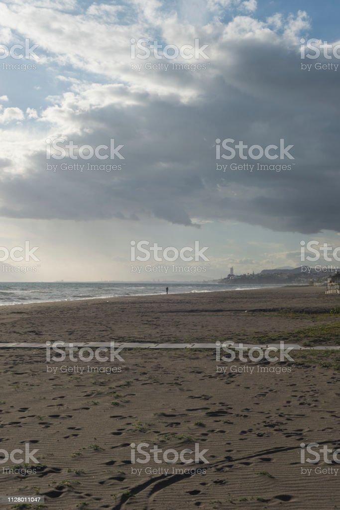 Beaches of Malaga stock photo