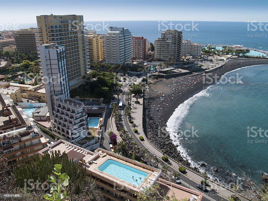 Beaches of Puerto de la Cruz, Tenerife, Spain stock photo
