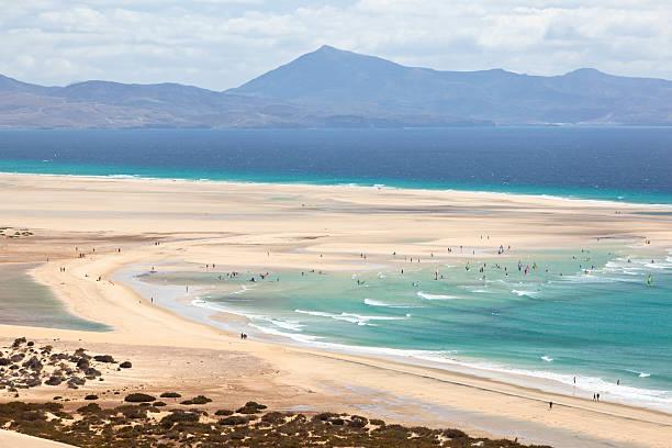 Playas De Sotavento, Fuerteventura stock photo