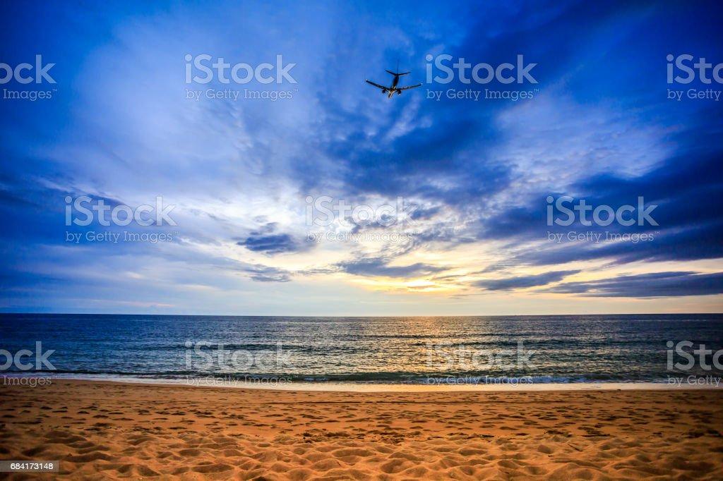 Beaches, sky and sea royalty-free stock photo