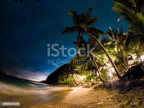 istock Beachfront at night in Ko Samet, Thailand 586934636