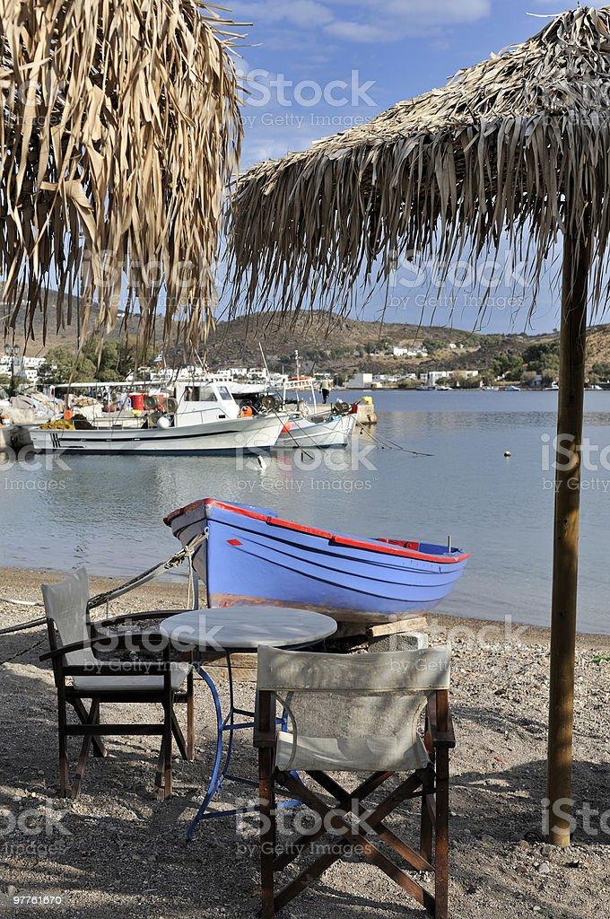 Beachfront Dining stock photo