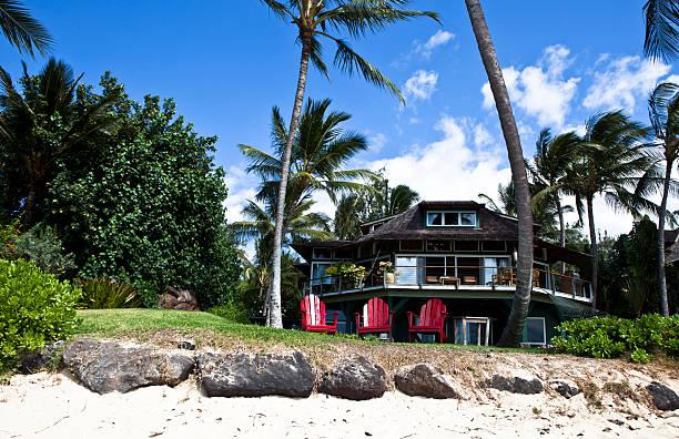 Beachfront Home - Kanaha stock photo