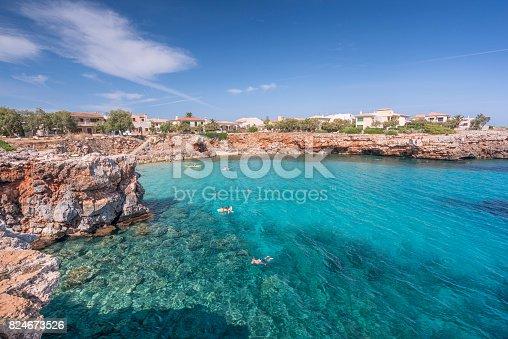 istock Beachfront Houses, Cala Morlanda Bay, Mallorca, Spain 824673526
