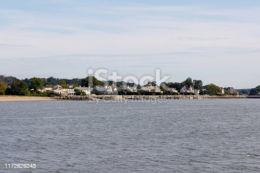 istock Beachfront houses on the Long Island Sound, Connecticut 1172626243
