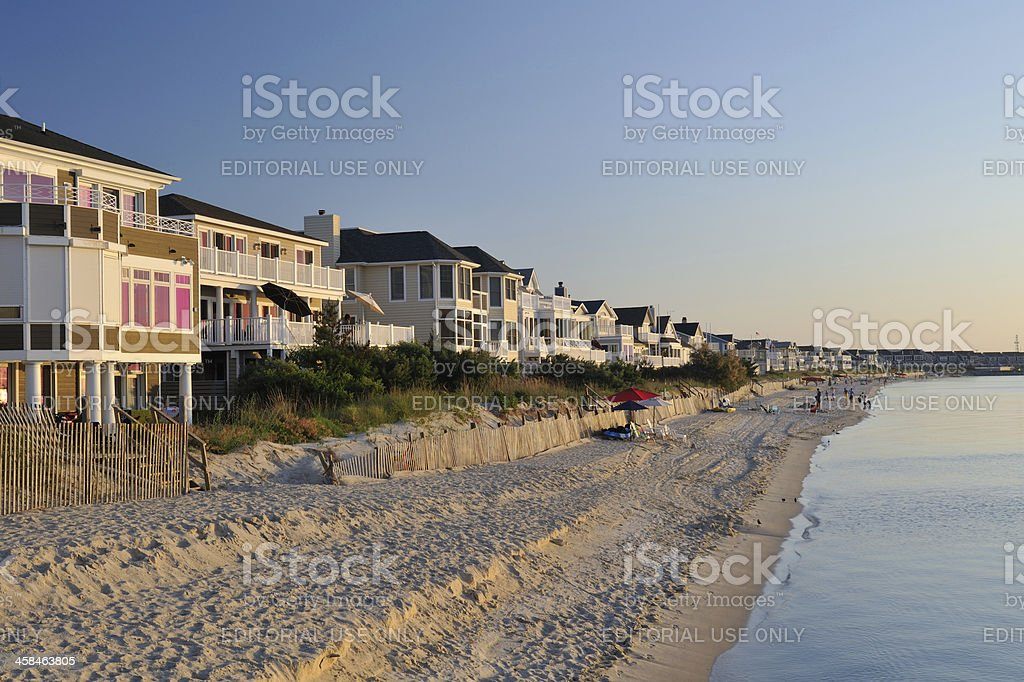 Beachfront Houses stock photo