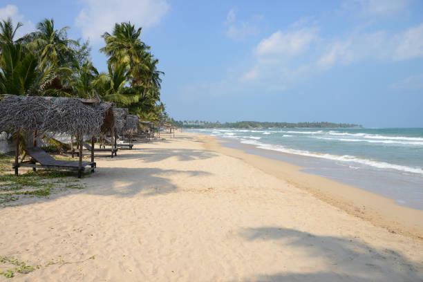 Beachfront in Uppuveli, Sri Lanka stock photo