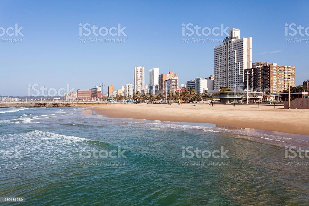 beachfront of Durban, South Africa stock photo
