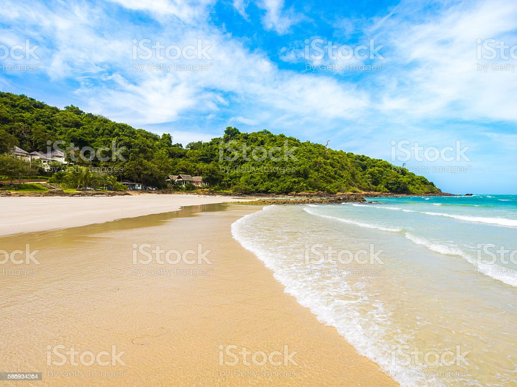 Beachfront scene in Ko Samet in Rayong, Thailand stock photo