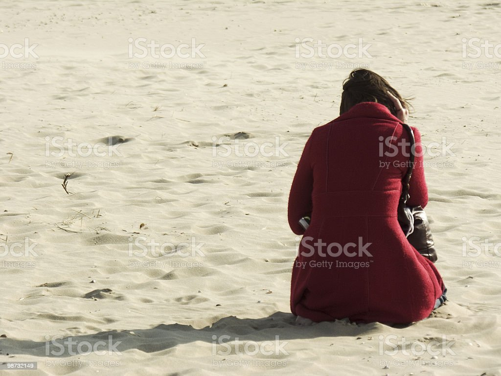 Beachlife; Office at the beach royalty-free stock photo